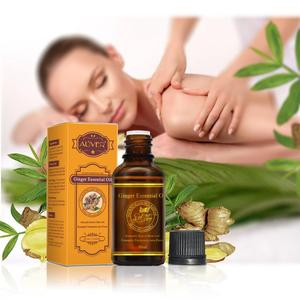 Hot Sale Pure Plant Essential Oil Ginger Body Massage Oil 30ml Thermal Body Ginger Essential Oil For Scrape Therapy SPA
