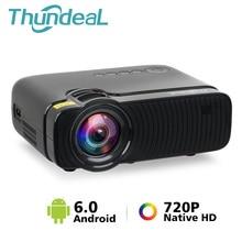 ThundeaL natif 720P Mini projecteur Bluetooth Android 6.0 WiFi projecteur TD30 Max LED HD vidéo HDMI VGA film WiFi 3D Proyector