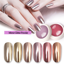 Mirror Nail Glitter Metal Color Gold 0.5G Art Set Tools Manicure Beauty Painting Professional Shining Chrome Pigment Powder