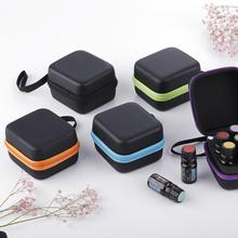 7 Compartments 5ML Essential Oil Storage Bag Carrying Holder Case Women Hands Cosmetic Makeup Bag Oil Bottle Organizer Bag