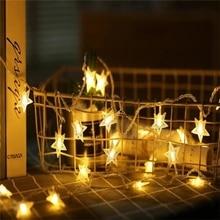 LED Star String Lights LED Fairy Lights Christmas Wedding decoration Lights AA Battery Operate twinkle lights