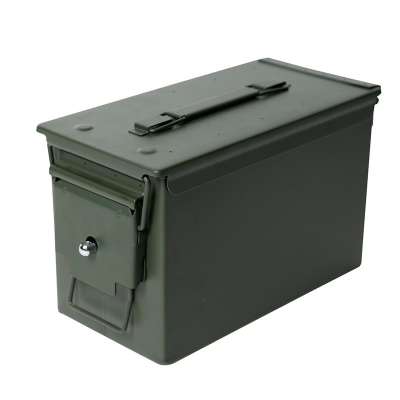 & exército estilo caixa de aço arma