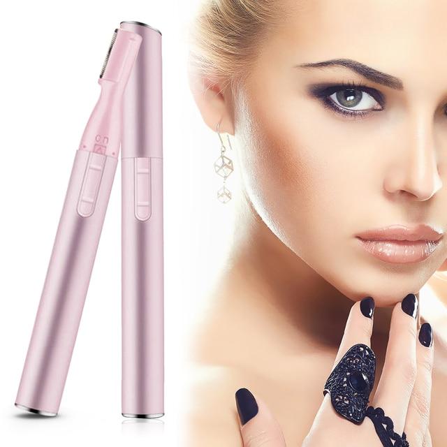 Electric Face Eyebrows Scissors Portable Armpit Leg Hair Remover Mini Trimmer Body Skin Shaver Razor Epilator 3
