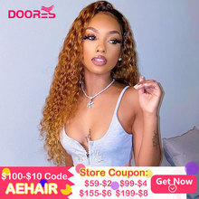 Colored Lace Front Human Hair Wigs for Women Curly Ombre Hum