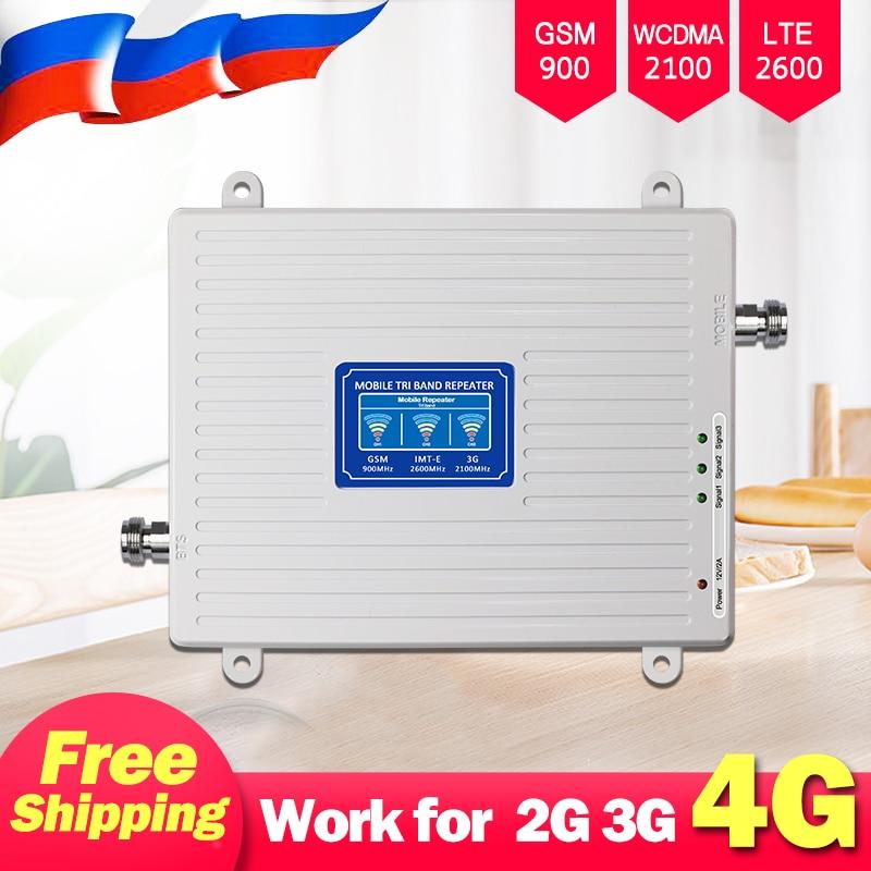 2G 3G 4G Cellular Booster 4g Signal Amplifier 900 2100 2600 GSM UMTS WCDMA LTE Cellular Signal Booster Cell Phone Amplifier 70db