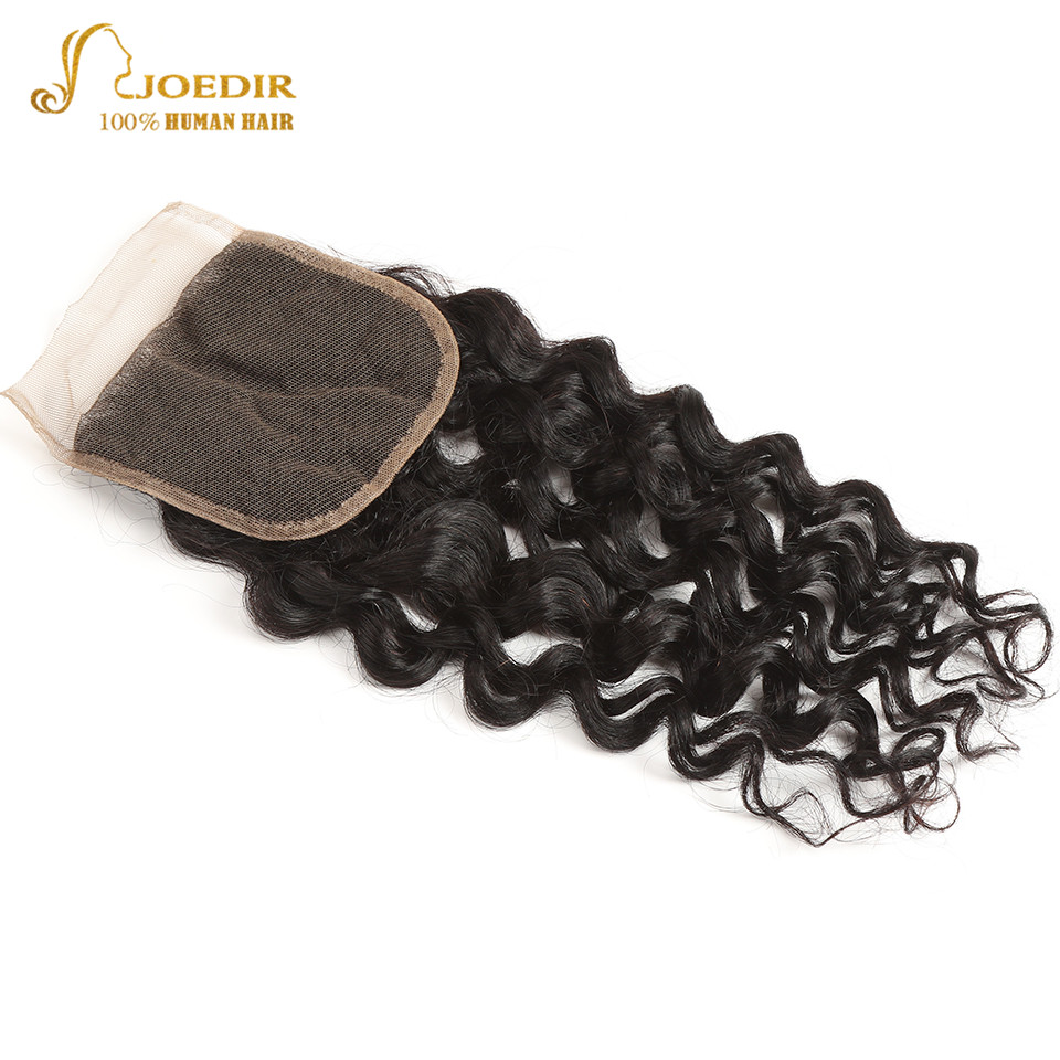 Image 5 - Joedir Water Wave Bundles With Closure Brazilian Human Hair Weave Bundles With Closure 3 Remy Wet And Wavy Bundles With Closure-in 3/4 Bundles with Closure from Hair Extensions & Wigs