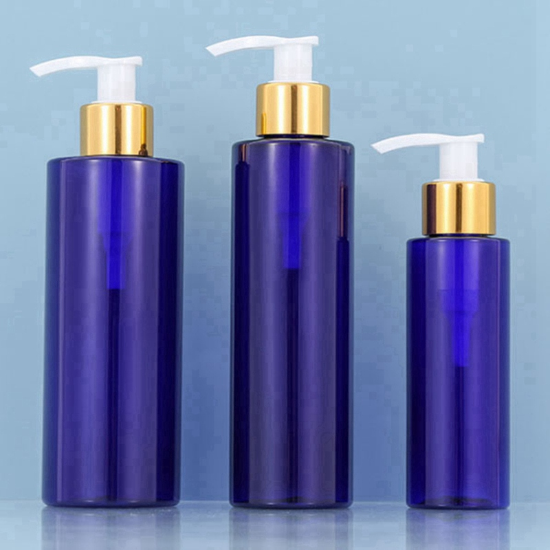 100-250ml Plastic Refillable Pump Lotion Bottle Travel Empty Cosmetic Container Blue Spray Bottle Perfume Refillable Bottles