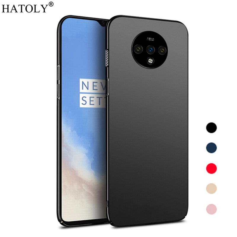 For Cover Oneplus 7T Case Ultra-thin Smooth Hard PC Back Cover For Oneplus 7T Protective Phone Bumper Case For Oneplus 7T Case