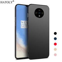 цены For Cover Oneplus 7T Case Ultra-thin Smooth Hard PC Back Cover For Oneplus 7T Protective Phone Bumper Case For Oneplus 7T Case