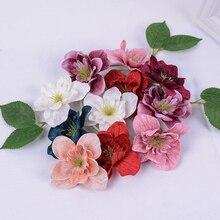 Silk Flower Orchid Diy Wreath Party-Decorative Wedding Colorful 10pcs 7cm Clip-Art Gift-Box