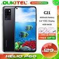OUKITEL C21 смартфон с 5,5-дюймовым дисплеем, восьмиядерным процессором Helio P60, ОЗУ 4 Гб, ПЗУ 64 ГБ, 6,4 мАч, 20 МП