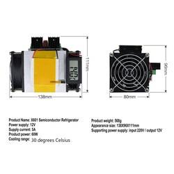XH-X601 System chłodzenia półprzewodników powierzchni temperatury w lodówce o regulowanym niskim wyświetlacz temperatury 12V