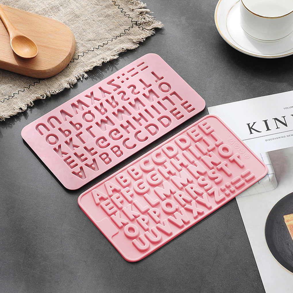 Capital Letters Fondant Silicone  Chocolate Mold Craft Chocolate Baking Fondant Mould Cake Decorating Kitchen Pastry Tool