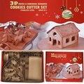 18 шт. 3D пряничный домик из нержавеющей стали Рождественский сценарий набор резаков для печенья формы помадки резак инструмент для выпечки