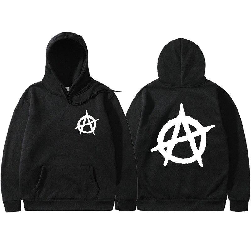 3D Print 2019 New Anarchy Punk Rock Deesign Patchwork Style Non Sweatshirts Vintage Fashion Spring Autumn Hoodies Men