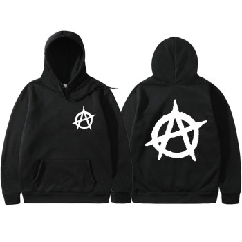 3D Print 2019 New Anarchy Punk Rock Deesign Patchwork Style Non Sweatshirts Vintage Fashion Spring Autumn Hoodies Men