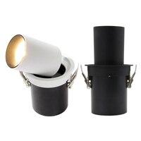 Zerouno redondo led holofotes cozinha sala de estar cob bulbo ressessed luzes led 7w 12 220v preto branco lamparas luz|Holofotes de LED| |  -