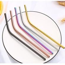 2pcs drinking straw 304 stainless steel set food grade color metal milk tea bar accessory