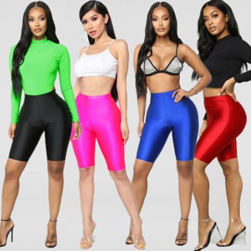 Women Cycling Shorts Dancing Gym Biker Slim Active Sports Solid Sexy Skinny 2020 New Summer