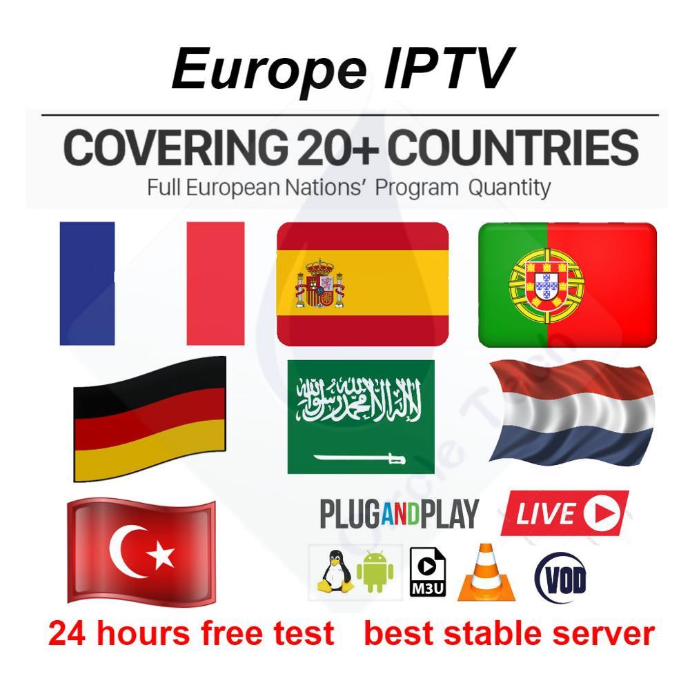 Europe 7000+ iptv Live 10000+ VOD Film Adulti 18 + Sport 4K IPTV france Europa Spagna Portugal Germania android M3U Smart IPTV