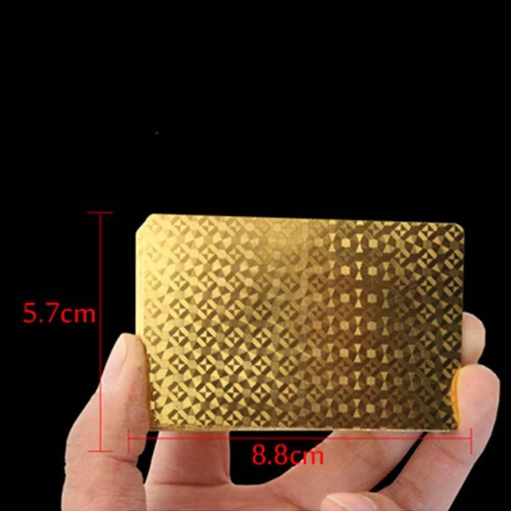 Un pont feuille d'or Poker Euros Style plastique Poker cartes à jouer cartes imperméables bon prix jeu de société de jeu magie d'or