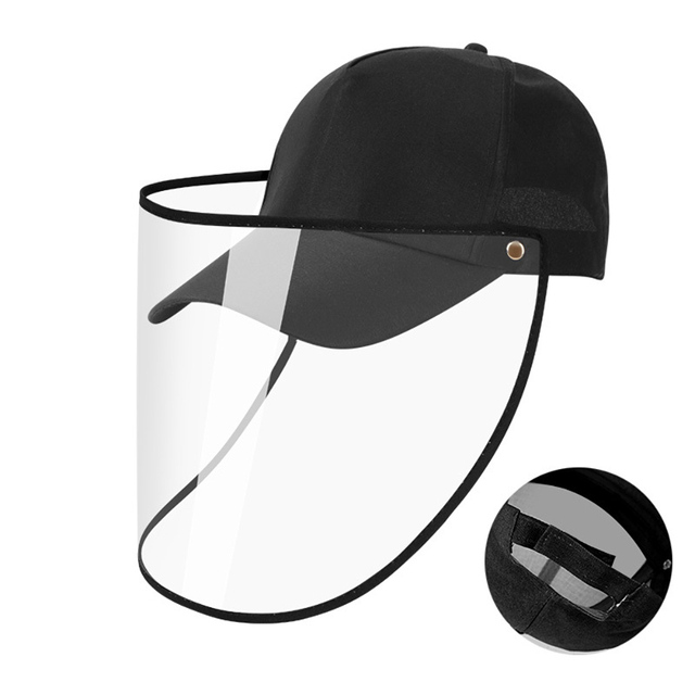 5/10pcs Protective Cap Face Shield Full Face Covering Mask with Hat Anti Saliva Dustproof Fisherman Hats Sport Cap Protection