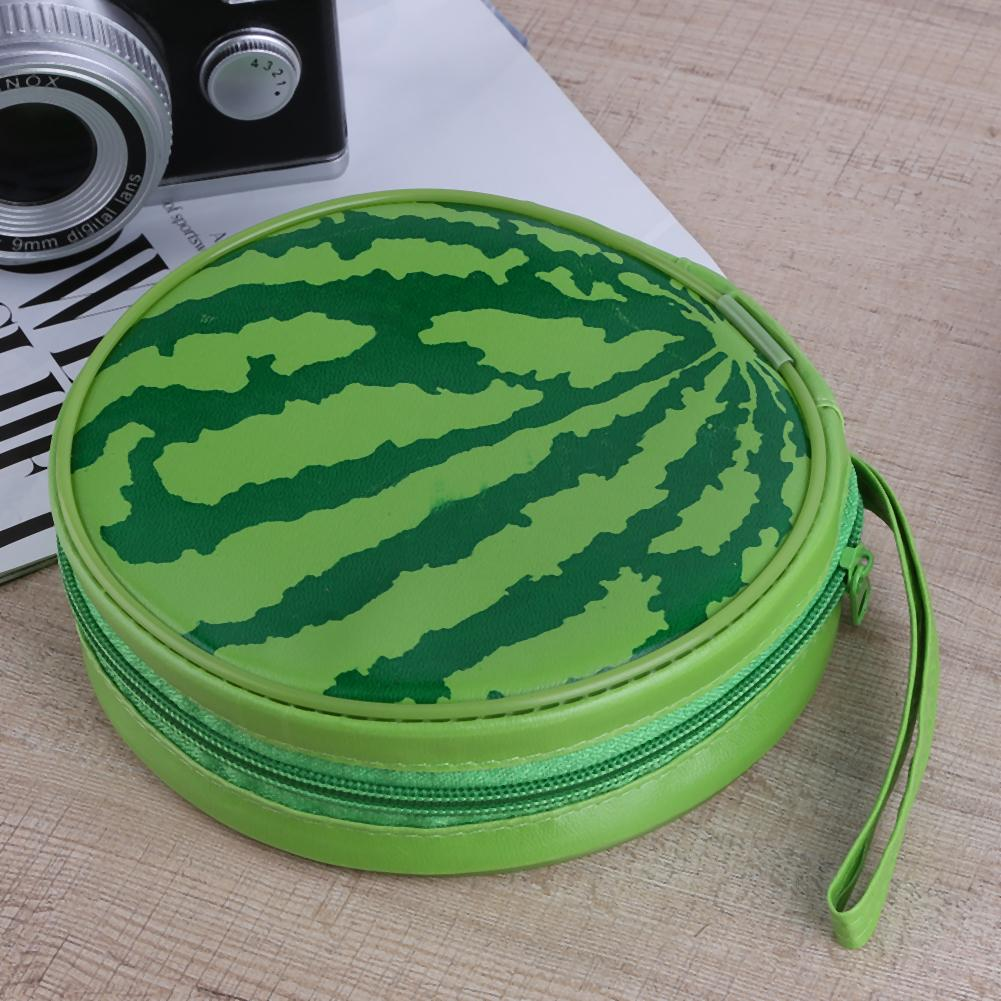 Watermelon Pattern Portable 24pcs Disc Capacity Dvd Cd Storage Case