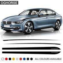 Car Door Side Stripe Skirt Sticker Black Silver Waist Line Body Decal M Performance for BMW 3 Series F30 F31 320i 328i 330i 320d for bmw e90 e92 e93 f20 f21 f30 f31 f32 f33 f34 f15 f10 f01 f11 f02 g30 m performance side skirt sill stripe body decals sticker
