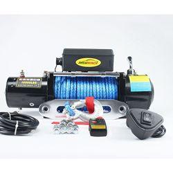 12 v/24 v 10000 funtów nylon wciągarka linowa dla off-road wciągarka z bezprzewodowego pilota zdalnego sterowania