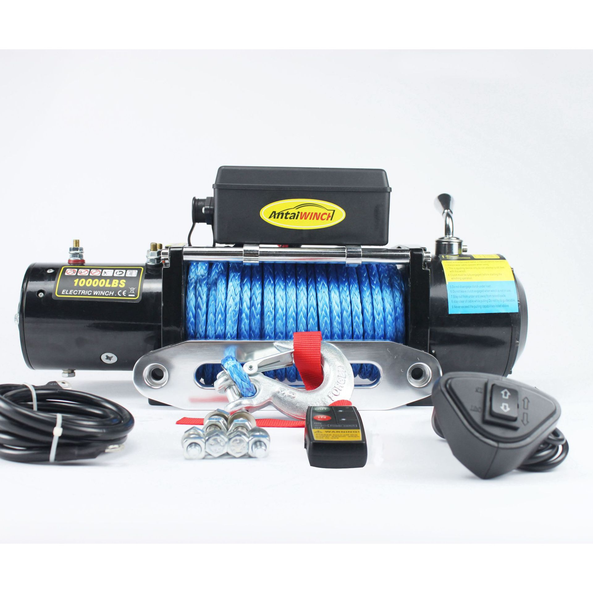 12v/24v 10000 Pounds Nylon Rope Winch For Off-road Winch With Wireless Remote Control