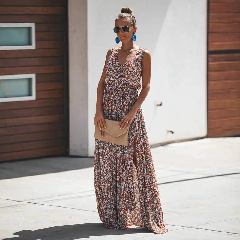 Sommer Kleid Frauen Druck Nähte Mode Kleid Weibliche Strand Casual Lace Up Lange Kleider Hohe Qualität Damen Vestidos QX11