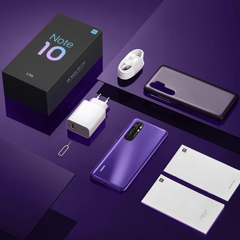 Globale Versione Xiaomi Mi Nota 10 Lite 6GB 64GB Snapdragon 730G NFC G-pay 64MP Quad telefoni 5260mAh Mobile della macchina fotografica 30W smartphone 3