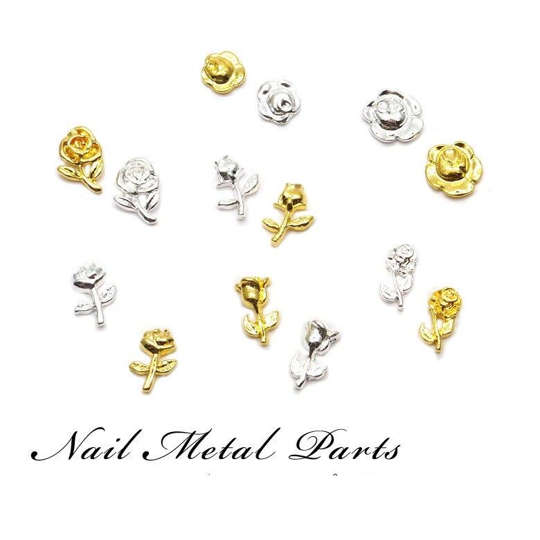 100 pçs japonês manicure jóias pétala rosa