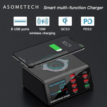 100w-8-ports-usb-charger-qi-wireless-charging-digital-display-qc-pd-fast-charger-dock-station-for-iphone-12-11-pro-xiaomi-huawei