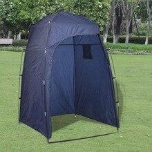 VidaXL Портативный Открытый палатки водонепроницаемый материал душ WC изменение палатки синий с 2 отсеками для хранения