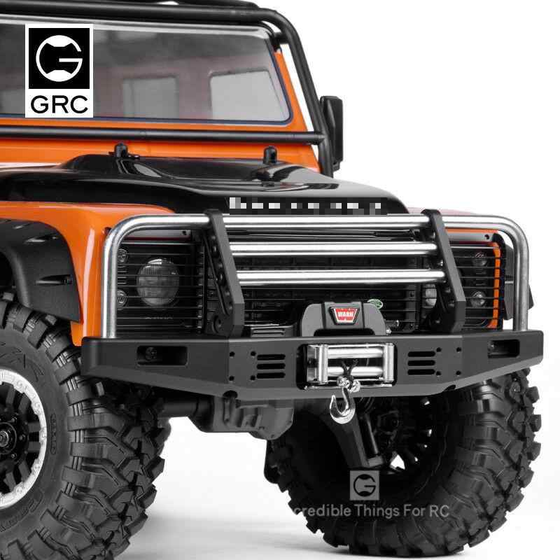 Universalโลหะด้านหน้าAnti-Collisionกันชนสำหรับ 1/10 RC CrawlerรถTraxxas TRX4 Defender Bronco Axial Scx10 90046 90047
