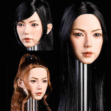 Collelctible ymt019 1:6 масштаб красивая азиатская женская голова