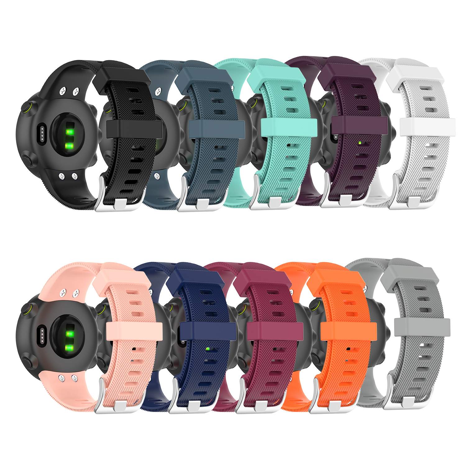 Silicone Original For Garmin Forerunner 45S Bands Sport Replacement Bracelet Watchband For Garmin Forerunner 45 Smart Watchstrap