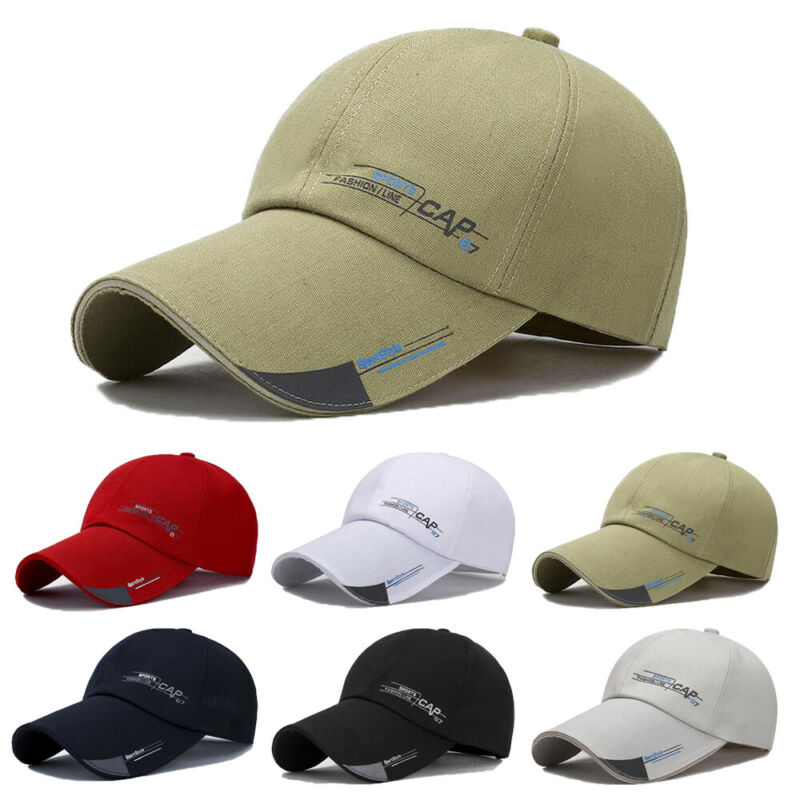2019 Fashion New Simple Men Women <font><b>Cap</b></font> Hip-hop Hat Adjustable <font><b>Cap</b></font> Fish Outdoor Long Visor Brim Hat image