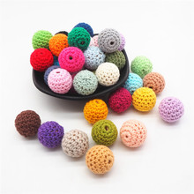 Beads-Balls Jewelry Necklace Crochet Knitting Wooden Chenkai Round 16mm for Diy-Decoration