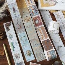 Giấy Bạc ĐẦM Vintage CỔ Series Hoa Châu Âu, Chữ Cái Trang Trí Băng Keo Mặt Nạ Washi Băng DIY Đi Du Lịch Ghi Băng
