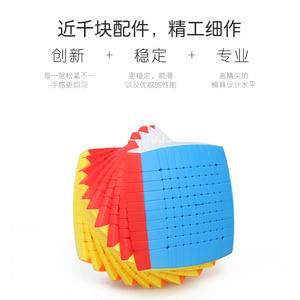 Image 3 - Neueste Magie Puzzle 10x10 Shengshou 10x10x10 Cubing Geschwindigkeit Stickerless 85mm professional Cubo Magico hohe Spielzeug für Kinder