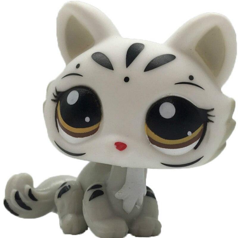 Лпс стоячки кошки Игрушки для кошек lps, редкие подставки, маленькие короткие волосы, котенок, розовый#2291, серый#5, черный#994,, коллекция фигурок для питомцев - Цвет: 3585