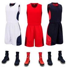 Мужской Детский Баскетбол форменная одежда воздухопроницаемые рубашки, шорты, комплект для мальчиков, дешевый комплект для баскетбола, спортивные тренировочные костюмы