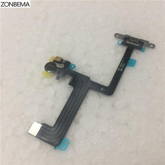 ZONBEMA Pulsante di Controllo Del Volume di Potere Mute Interruttore di Blocco Cavo Della Flessione del Connettore con Staffa In Metallo per il iPhone X XR 6 6S 7 8 Più