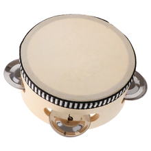 Music-Toy Toy-Instrument Tambourine 4-Inch Percussion Wooden Educational Kids Children