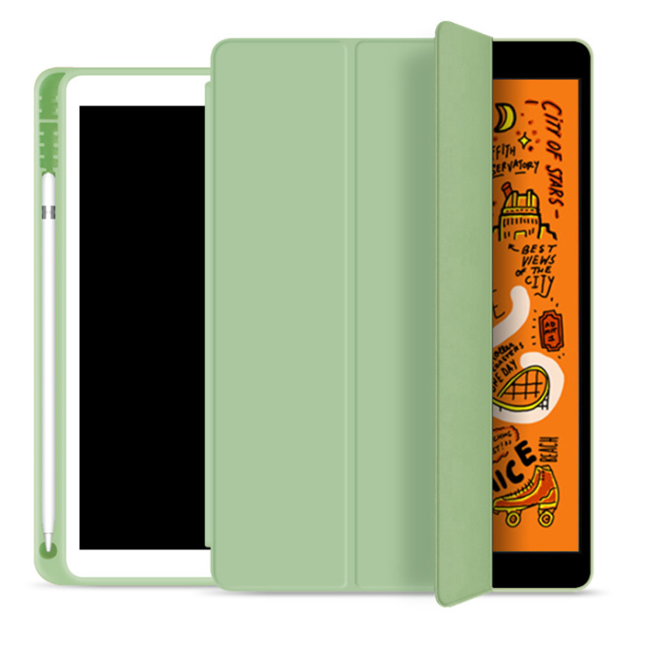iPad 7 7th lgr Green For iPad 10 2 7th Generation Case with Pencil Holder for iPad 2019 10 2 Slim