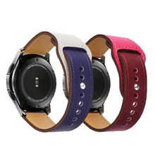 Leather Strap for Samsung  Watch Band Galaxy 42 46mm Universal Quick Replacement Straps