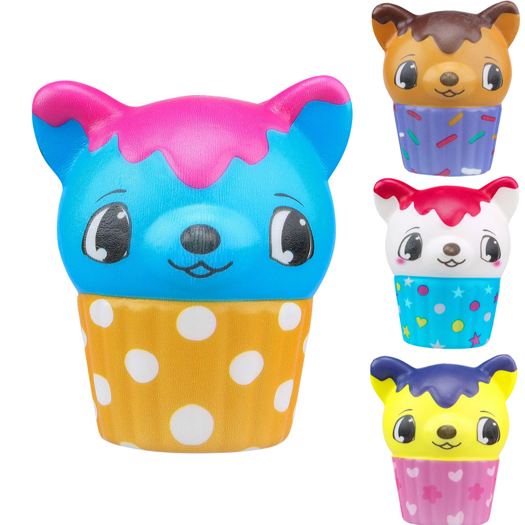 Kawaii Adorable Ice Cream Fawn Pinch Deer Slow Rising Cream Scented Stress Toys Simulation Decompression Crafts  L0116