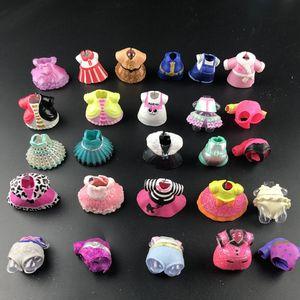 Оригинальные платья, костюмы для LOL, 6/12/18/25 шт./партия, куклы-сестры 8 см, аксессуары для маленьких девочек, детские игрушки, подарок на день ро...
